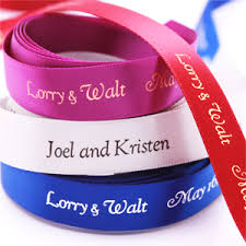 printed ribbons for favors 5 8 satin personalized continuous ribbons personalized ribbons