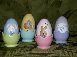 painted wooden easter eggs easter country crafts