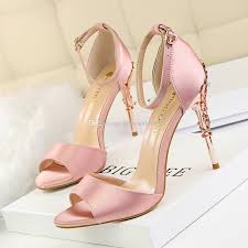 Wedding Shoes Peep Toe Women Fashion Satin Wedding Shoes Peep Toe High Heel Bridal