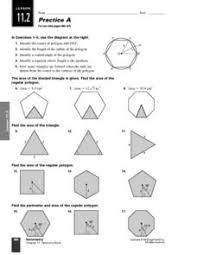 areas of regular polygons worksheet worksheets releaseboard free