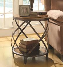aluminum accent table round rustic metal wood end table and tables small accent discount