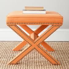 safavieh palmer x bench nailhead plum ottoman free shipping