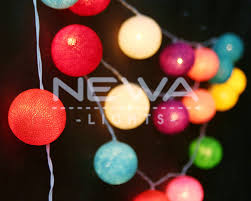 20 mixing colorful cotton ball fairy lights indoor string
