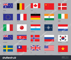 Flags Of Countries In Europe Flags Twentythree Countries Plus Eu Nato Stock Vector 17506678