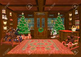 3d digital render of a beautiful christmas trees and lots of