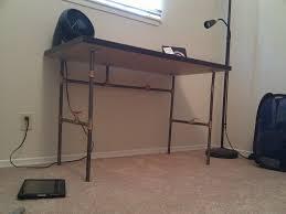 galvanized pipe table legs top 43 splendid metal pipe legs steel furniture black desk