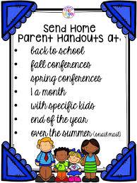 building skills u0026 learning at home parent handouts aka fun