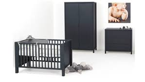 chambre bebe noir idée lit bebe noir