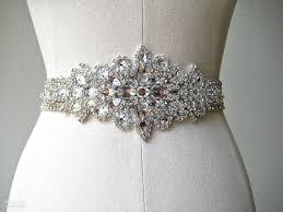 bridal belt custom made exquisite heavy beading rhinestone crystals wedding