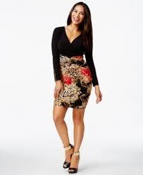 thalia sodi embellished ruched colorblock dress only at macy u0027s