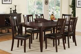 poundex 7 piece dining table set with 18