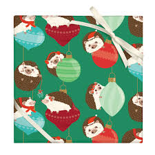 hedgehog wrapping paper hedgehog gift wrap at bas bleu up1102