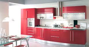 Red And Grey Kitchen Cabinets Quicua Com Lacquered Lacquer - Red lacquer kitchen cabinets