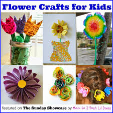 easy flower crafts for kids great for fun or as homemade gifts