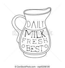 vector of best daily fresh milk product promo sign in sketch style