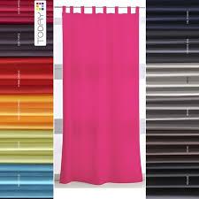 rideaux pas cher panneaux 140x260 cm uni avec passant patte pas cher