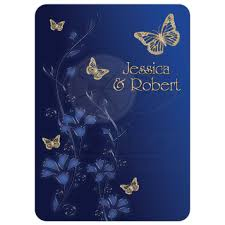 Walmart Wedding Flowers - wedding invitation royal blue and gold flowers butterflies