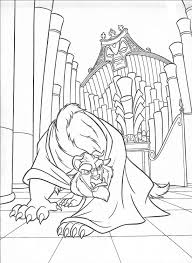 and the beast coloring picture