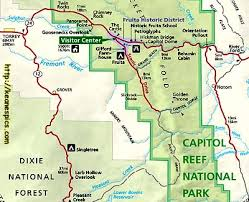 capitol reef national park map keane s picture web site capitol reef national park