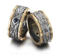 wedding bands for him engraved camo wedding bands set for him woody