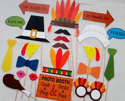 thanksgiving day photo booth props para el día de acción de gracias