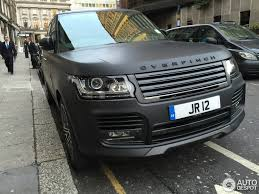 matte black range rover price land rover overfinch range rover l405 20 february 2015 autogespot