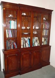 Mahogany Bookcase A Georgian Style Mahogany Bookcase Late 20th In Antique Library