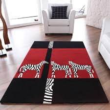 Area Rugs Uk by Kalahari Zebra Rugs In Black And Red Free Uk Delivery The Rug