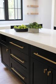 black kitchen cabinets with black hardware our new modern kitchen the big reveal the house of