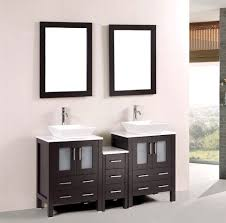 60 in modern bathroom double vanities cabinet marble top vessel