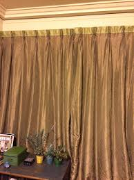 french pleated double wide blackout lined curtains