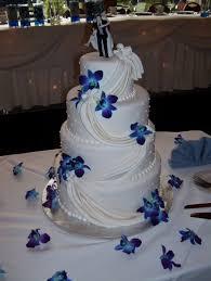 blue orchids wedding cake cakes pinterest wedding cake