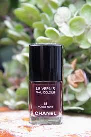 chanel rouge noir nail polish style barista