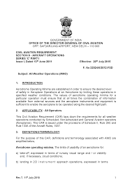 all weather operations awo documents