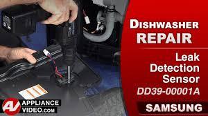 Dishwasher Leaks Water Samsung Dw80j9945us Waterwall Dishwasher Appliance Video