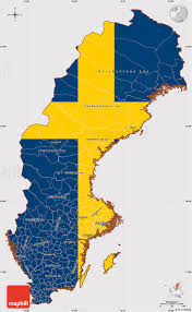 map of sweden flag simple map of sweden flag rotated