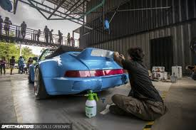 rwb porsche blue master builder creating rwb miyabi speedhunters