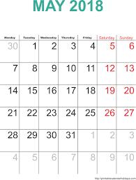 may 2018 calendar template monthly calendar 2017