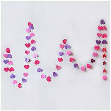 wedding backdrop accessories online shop 4pcs 4m purple heart paper garland child room party