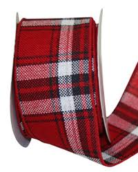 black and white wired ribbon christmas ribbon plaid checked striped