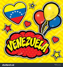 Country Flags Patches Happy Birthday Venezuela Pop Art Fashion Stock Vector 541386391