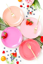 ikea pink plates diy it custom colored glass plates a kailo chic life