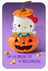 itty bittys hello kitty pumpkin surprise halloween card