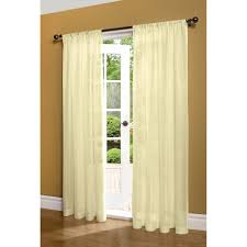 decor white grommet curtains with dark l shaped curtain rod and