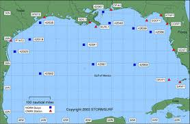 map of the gulf of mexico buoys gulf of mexico stormsurf