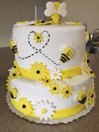 bumble bee themed baby shower cake kids cakes pinterest