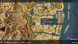 Memphis Map Assassin U0027s Creed Origins All Papyrus Locations Shacknews