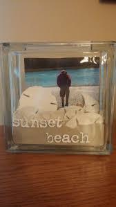 Glass Block Beach Scene My Crafts Pinterest