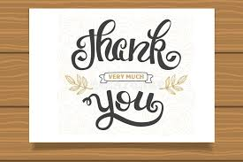 thank you lettering sign for a card template thanksgiving