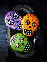Decorated Halloween Sugar Cookies by Day Of The Dead Cookies Williams Sonoma Happy Halloween